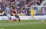馬德里競技的胡安弗蘭託雷斯在馬德里競技與CD的比賽