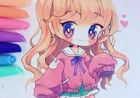 甜美可人的Q版小蘿莉馬克筆手繪插畫,萌萌噠新手可練手!