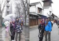汪阿tag飛日本過新年 汪明荃孖羅家英雨中散步好浪漫