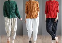 """780後女人別穿裙子了,瞧瞧這""""棉麻衫+煙管褲"""",青春有活力"""
