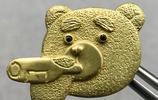 賤賤的配飾小珠寶 泰迪熊黃金領針胸針