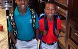 看著老詹的兒子Bronny和Bryce慢慢長大!這14歲的個子這麼高?