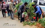 來從江停洞鎮趕個集,看看兩個外國人被集市上的什麼東西吸引住了