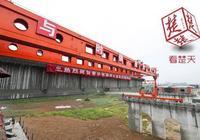蒙華鐵路湖北段完成首片樑鋪架,預計2019年完成架樑任務