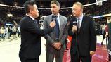 16/17NBA總決賽第3場:騎士Vs勇士 NBA名宿場邊擔任解說