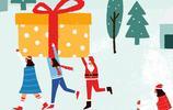 聖誕節唯美卡通插畫高清圖片手機壁紙