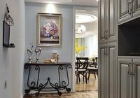 130平米簡美風格三居,優雅精緻的仿古質感,玄關設計太迷人