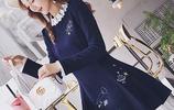 2017最時髦的秋冬名媛連衣裙,女神的潮搭神器,穿出時尚大牌範~