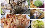 朋友帶了兩個原生態的菜來家裡吃飯,五個家常菜,帶殼的最受歡迎