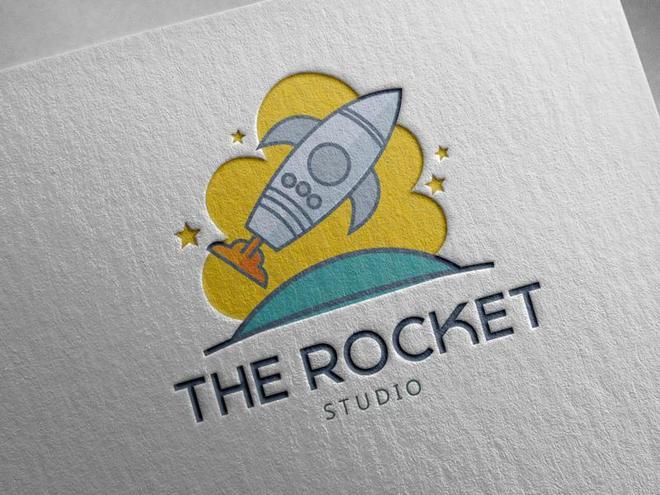 【標誌設計欣賞】65款國外火箭標誌LOGO設計圖片