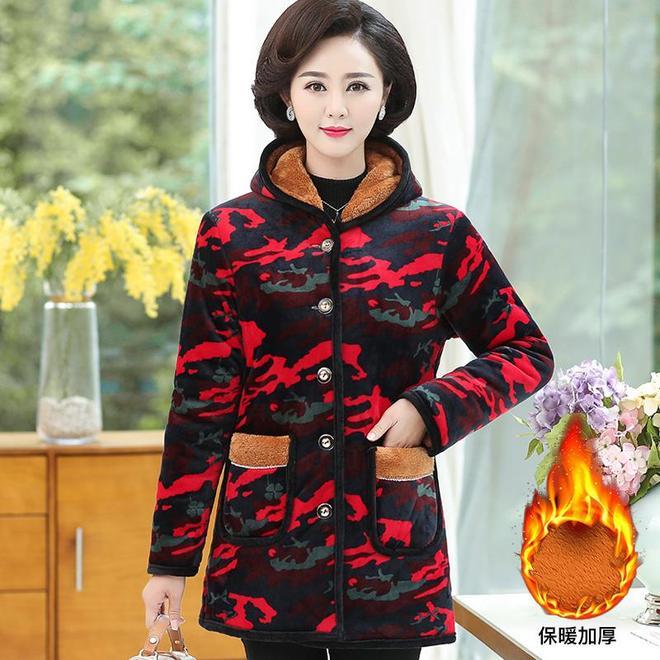 媽媽怕冷,給媽媽買了件加絨棉衣保暖時髦,年輕又時尚