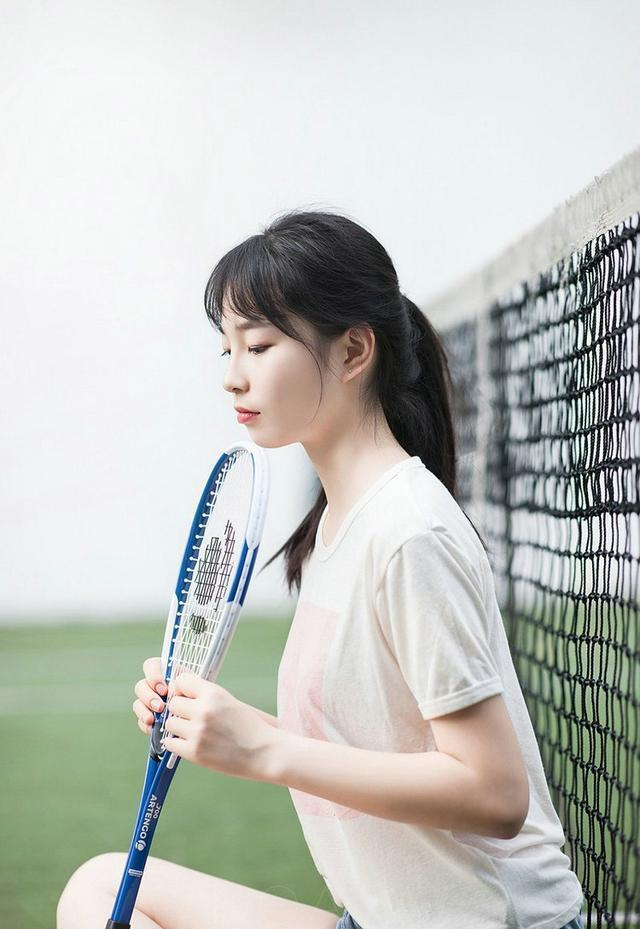 網球美女模特戶外攝影,美女模特攝影