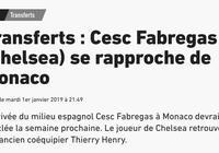 隊報:法佈雷加斯轉會摩納哥下週可能達成