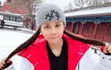 北京中赫國安俱樂部球員張稀哲的妻子,晒出自己故宮旅遊的照片