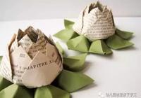 幼兒園親子手工之摺紙,用心折一朵青蓮,手巧的人才折得出來