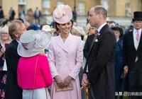 凱特。米德爾頓,粉色女士,雅緻的皇家花園宴會!