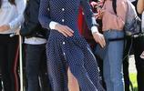 凱特王妃獲贈鮮花喜笑顏開 藍色長裙不失優雅卻瘦成紙片人
