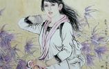 女畫家於東華女性國畫人物作品,有仙氣