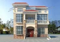 28萬建三層別墅,陽光房、露臺、飄窗讓你成為村裡蓋房第一人!