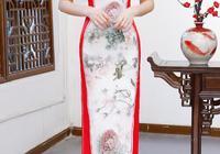 傳統中國風長款旗袍裙,四個顏色都很漂亮,讓人難以選擇