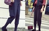"""最近非常流行一種褲子 叫""""蘿蔔褲"""",閨蜜說比闊腿褲還好看顯瘦"""