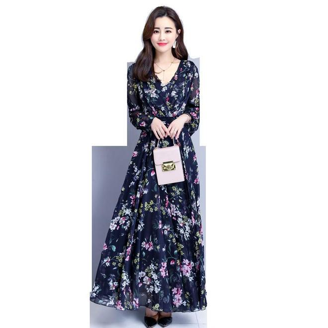 時尚優雅連衣裙,有著舒適的雪紡面料,讓女性感受恩柔的呵護