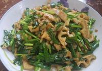 韭菜新做法,1把韭菜1個蓮藕教你一道美味家常菜,營養好吃又開胃