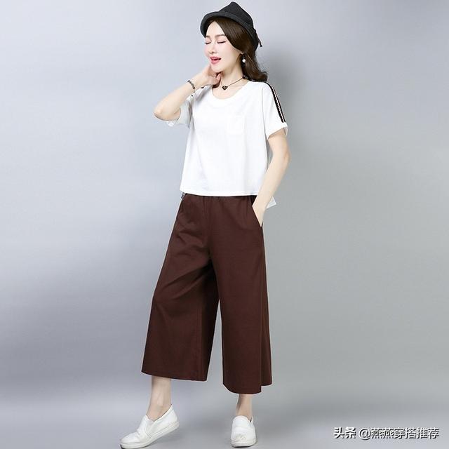 """雪紡衫不流行了,瞧今年主流這""""闊腿褲套裝"""",時尚顯瘦氣質優雅"""