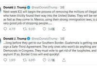 快訊!特朗普:移民機構下週開始清除數百萬非法移民