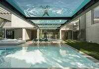 天花板就是泳池,有錢人真會玩!