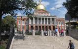 遊記圖集 遊覽波士頓馬薩諸塞州議會大廈 大廈的金頂很漂亮有特色