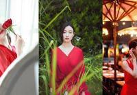 迪麗熱巴、倪妮和李沁同穿紅裙演繹不同風格!哪一種才是你的菜呢