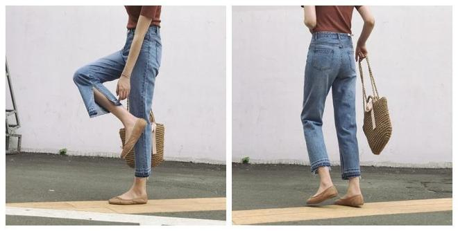 秋季需要一款帶感的牛仔闊腿褲,搭配T恤出門都是街頭潮人既視感
