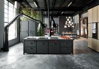 盡顯工業風格的廚房設計