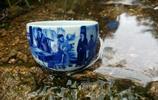 畊雨窯 天高雲淡 夢迴畊雨 十八學士圖杯 柴窯瓷器