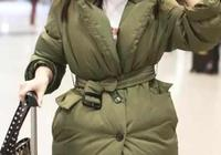 王媛可與霍思燕同穿軍綠色羽絨服,一個少女感爆棚一個尷尬了!