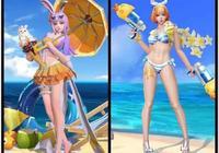 國服與外服沙灘皮膚特效對比:呂布換上夏裝,她的夏裝卻成了典藏