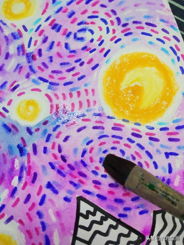 兒童創意水粉畫——銀河