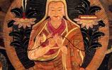 蒙古佛畫宗喀巴師徒三尊像