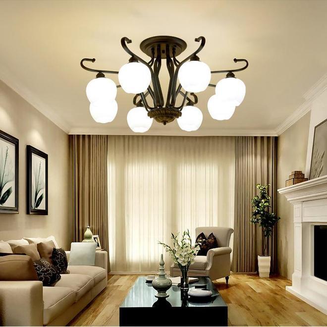 客廳裝修不知道裝什麼燈具好?不如先看看不同風格的吊燈效果吧