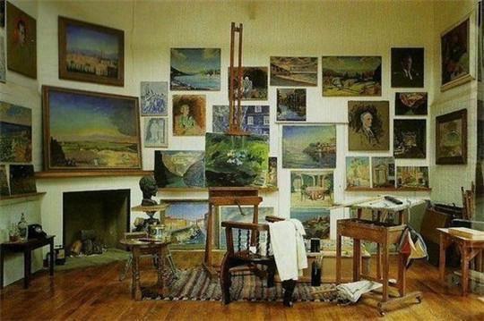 油畫-丘吉爾,想不到英國首相也會畫畫!