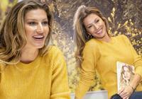39歲吉娘娘黃毛衣配牛仔褲也霸氣,離開小李子後收穫如今的幸福