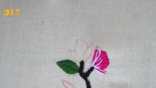 手把手,教你刺繡櫻花圖,新手也能很快學會(教程圖解)