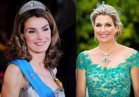 西班牙王后3次同框荷蘭王后:小骨架碰到大骨架,哪種體型吃虧