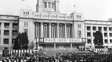 直擊 朴正熙國葬現場,橫幅以漢字書寫
