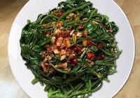 豉油番薯葉的做法,美味下飯成本低,人見人愛的開胃菜