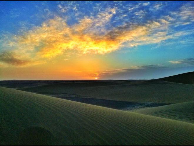 """""""大漠孤煙直,長河落日圓""""——八道橋沙漠"""