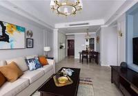 津漂夫妻的98㎡美式新房,硬裝全包8萬塊,完工顏值開掛了!
