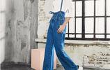 闊腿褲今年甚是流行,時尚潮流牛仔闊腿褲,減齡顯腿長~