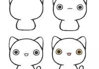 貓咪簡筆畫大全,一幅比一幅顏值高,萌翻了,值得收藏!